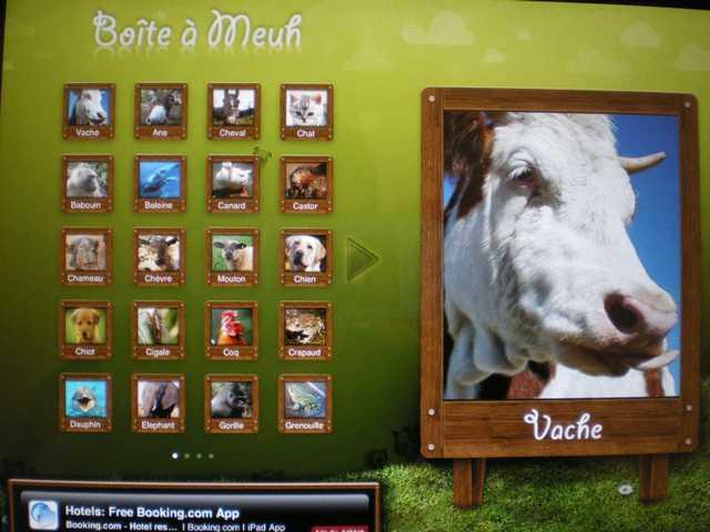 tablette pour enfants La boite à meuh
