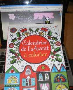 Calendrier de l'avant à colorier - Usborne - Les lectures de Liyah