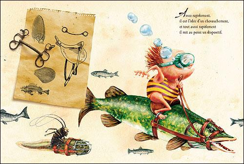 Comme un poisson dans l'eau 1 - Dedieu - Les lectures de Liyah