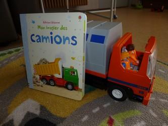 Mon imagier des camions - Usborne - Les lectures de Liyah