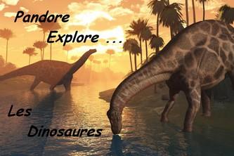 Logo Pandore explore Dinosaures - Les lectures de Liyah