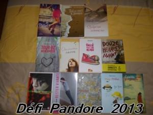 Défi Pandore 2013 - Les lectures de Liyah