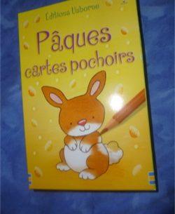 Pâques Cartes Pochoirs - Usborne - Les lectures de Liyah