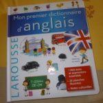 Mon premier dictionnaire anglais - Larousse - Les lectures de Liyah