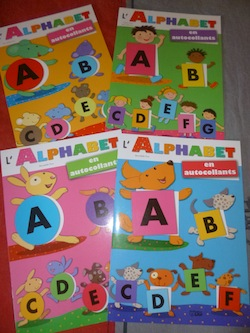 Alphabet autocollants - Lito - Les lectures de Liyah
