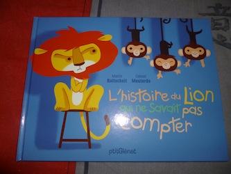 L'histoire du lion qui ne savait pas compter - Glenat - Les lectures de Liyah