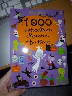 1000 autocollants monstres - Usborne - Les lectures de Liyah