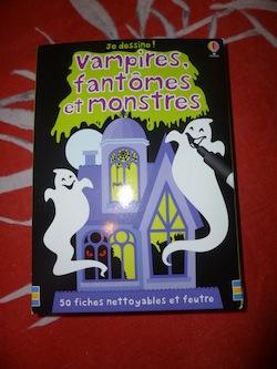 Fiches vampires fantomes et monstres - Usborne - Les lectures de Liyah