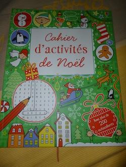 Cahier d'activités de Noel - Usborne - Les lectures de Liyah