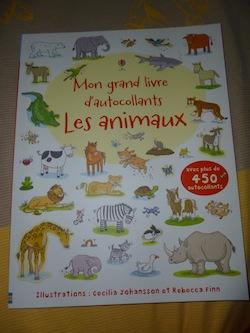 Les animaux autocollants - Usborne - Les lectures de Liyah