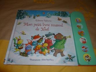 Mon petit livre musical de Noel - Usborne - Les lectures de Liyah
