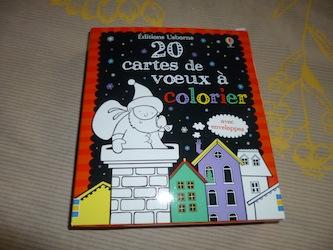 20 cartes de voeux a colorier - Usborne - Les lectures de Liyah