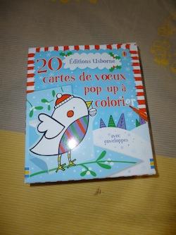 20 cartes pop up a colorier - Usborne - Les lectures de Liyah