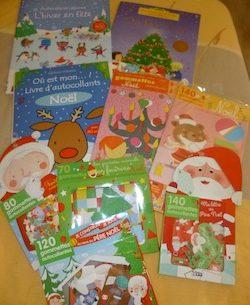 Autocollants Noel - Les lectures de Liyah
