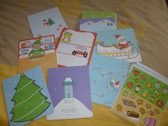 Cartes de voeux autocollants 1 - Usborne - Les lectures de Liyah