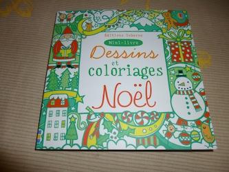 Dessins et coloriages Noel - Usborne - Les lectures de Liyah