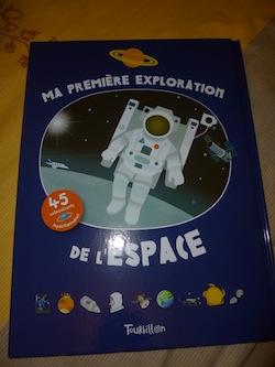 Ma première exploration de l'espace - Tourbillon - Les lectures de Liyah