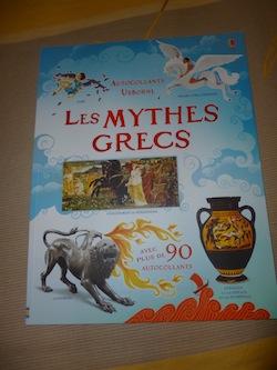 Livre pour enfants Mythes grecs autocollants - Usborne - Les lectures de Liyah