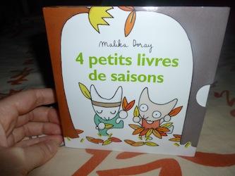 4 petits livres de saisons - EDL - Les lectures de Liyah