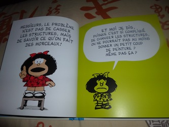 Mafalda Ainsi va le monde 1 - Glenat - Les lectures de Liyah