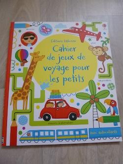Cahier de jeux de voyage pour les petits - Usborne - Les lectures de Liyah