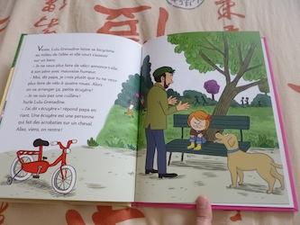 Lulu Grenadine fait du vélo 1 - Nathan - Les lectures de Liyah