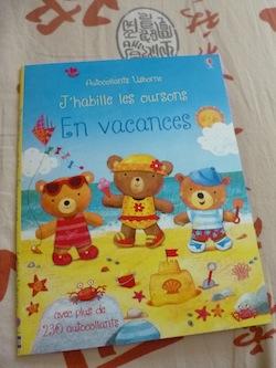 Oursons en vacances - Usborne - Les lectures de Liyah