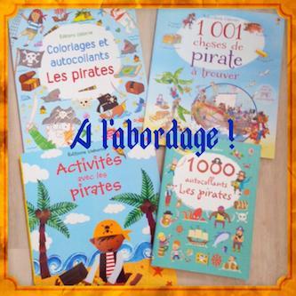 Livres d'Activités avec les pirates - Usborne - Les lectures de Liyah