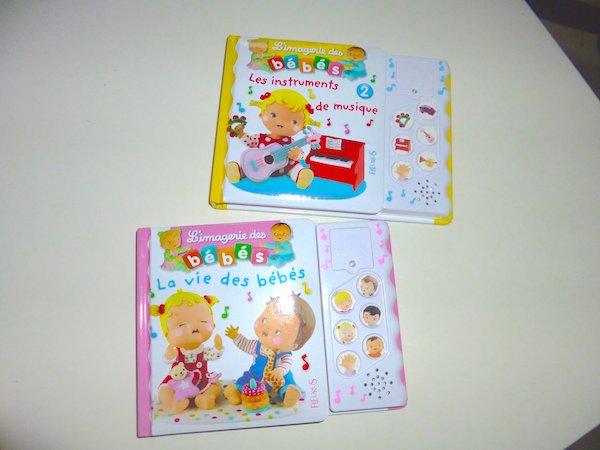 Livres bébé - Livre sonores fleurus