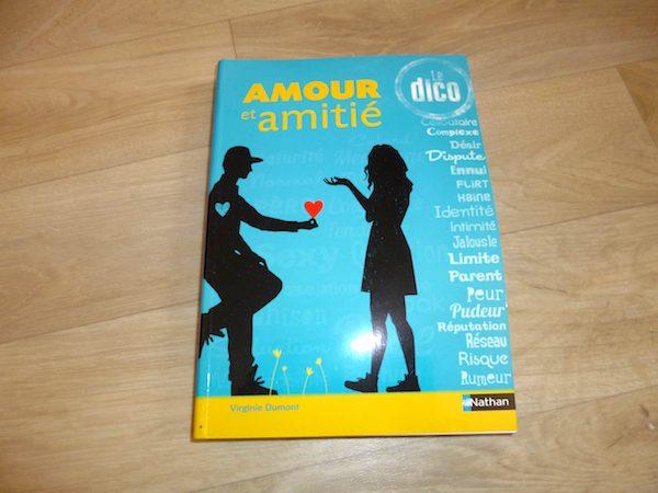 Livre jeunesse Amour et amitié dico