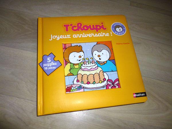 Livre jeu T'choupi puzzle anniv