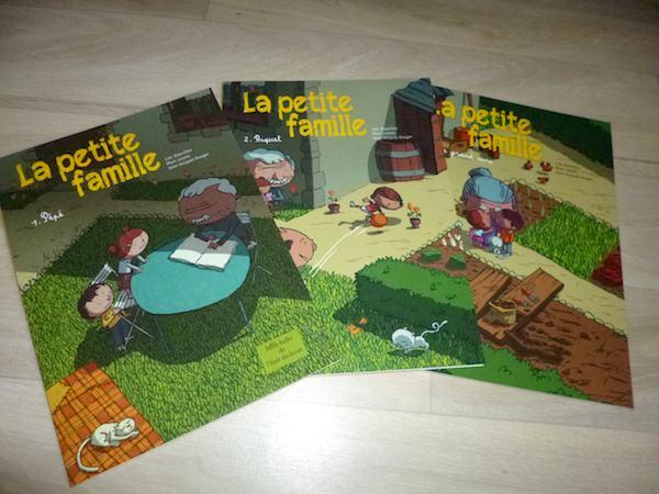 Bande dessinée pour enfants La petite famille