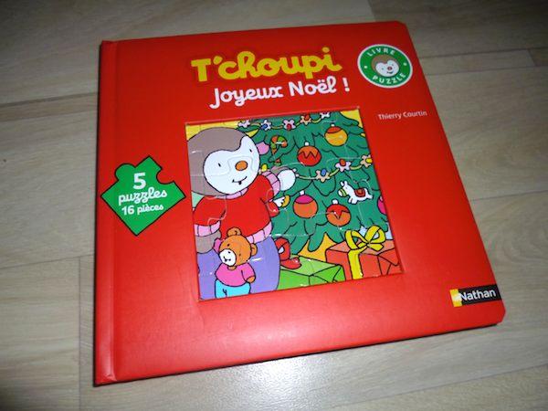 Livre puzzle T'choupi joyeux noel