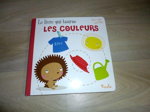 Livre pour petits Le livre qui tourne les couleurs